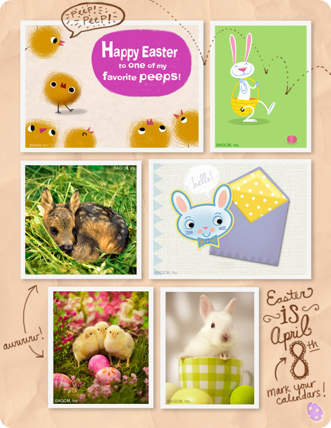 Moodboard - Easter images with photos of baby animals