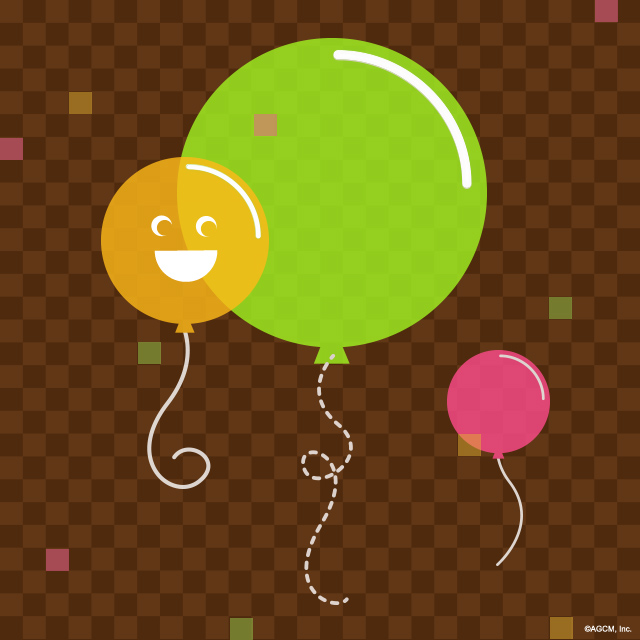 artwork of balloons for a kid's birthday party