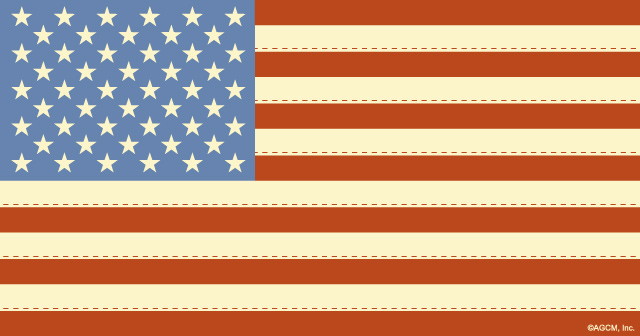 Patriot Day - American Flag artwork.