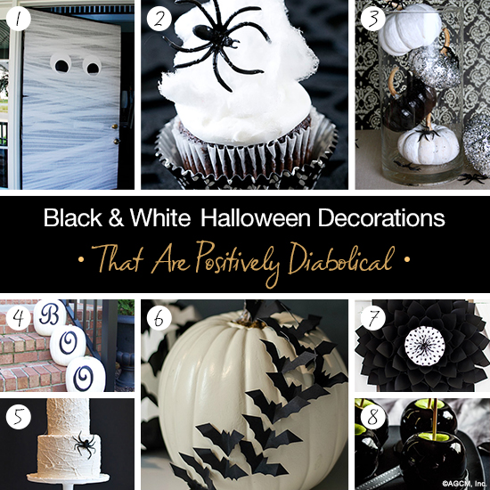 black and white halloween decorations that are positively diabolical