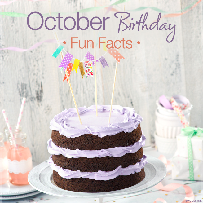 October Birthday Fun Facts BLG AG October Birthday Fun Facts