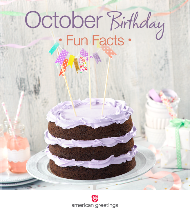 October Birthday Fun Facts