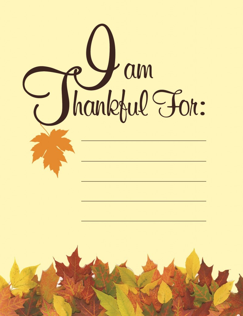 Free Thanksgiving printable from BlueMountain.com