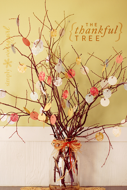 Thankful Tree from Simply Vintagegirl