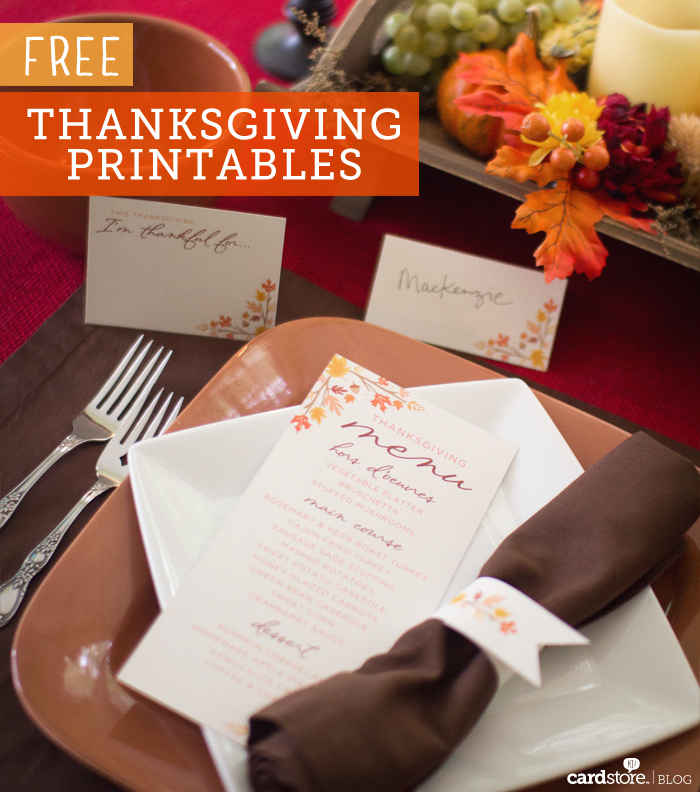 Free Thanksgiving Printables from Cardstore.com