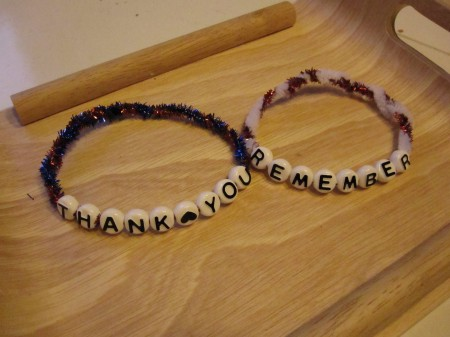 Veterans Day Bracelet Craft