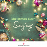 Warm, personal Christmas card sayings