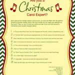 A free printable Christmas carol quiz!