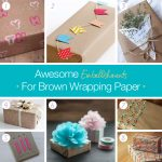 Awesome embellishments for brown wrapping paper