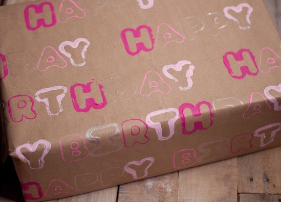Brown Wrapping Paper With Cookie Cutter Stamps