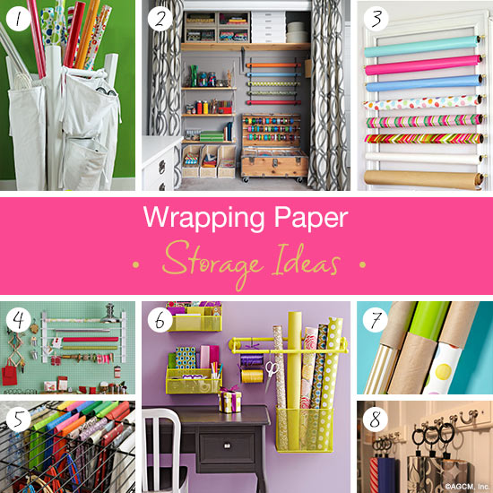 Exceptionnel Wrapping Paper Storage Ideas