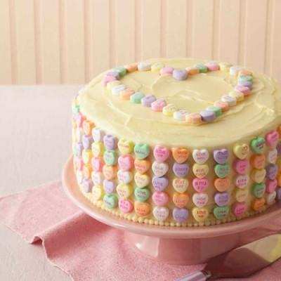 Conversation hearts cake by all you