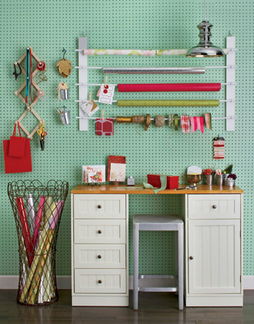 Gift Wrapping Area by Country Living