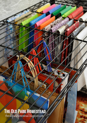 Tissue Paper Organizing Rack by The Old Park Homestead