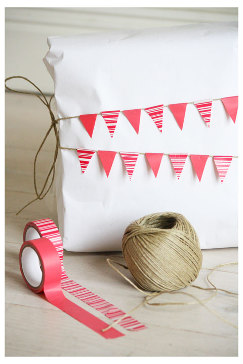 annixen washi tape and twine pennants