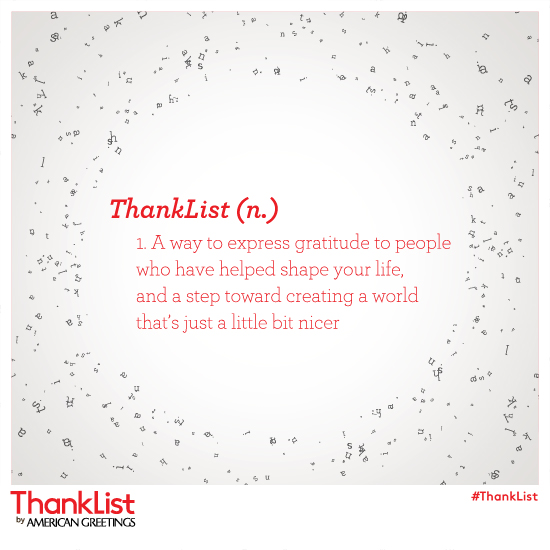 ThankList Definition
