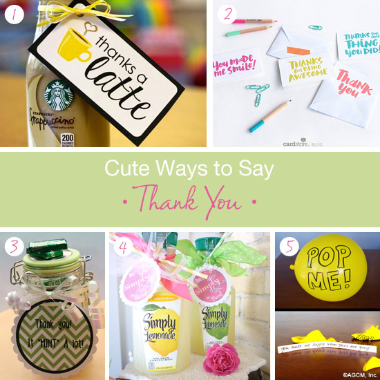 Cute Ways To Say Thank You