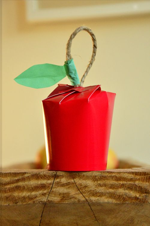 Paper Cup Apple Gift Wrap by willowday