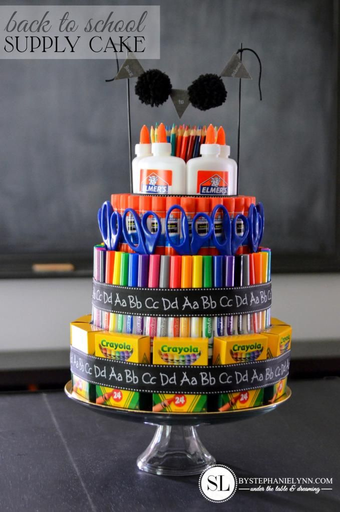 Back to School Supply Cake by Stephanie Lynn