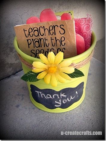 Teacher Appreciation Gardening Gift by U-CreateCrafts / Skip To My Lou