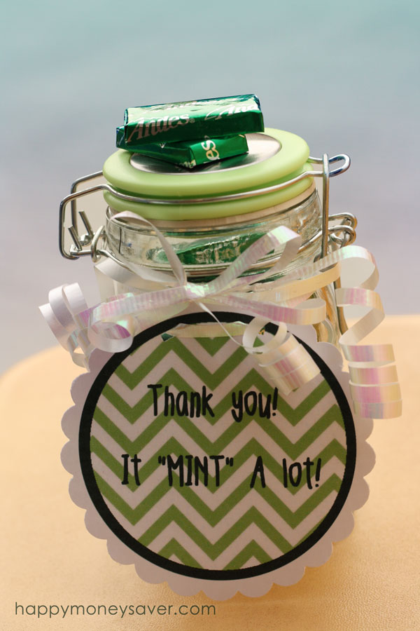 "It ""Mint"" A Lot Thank You Jar by Happy Money Saver"