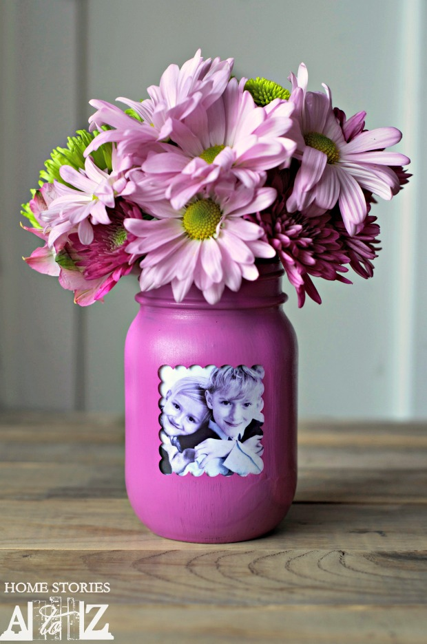 Mason Jar Picture Frame Vase by Home Stories A to Z