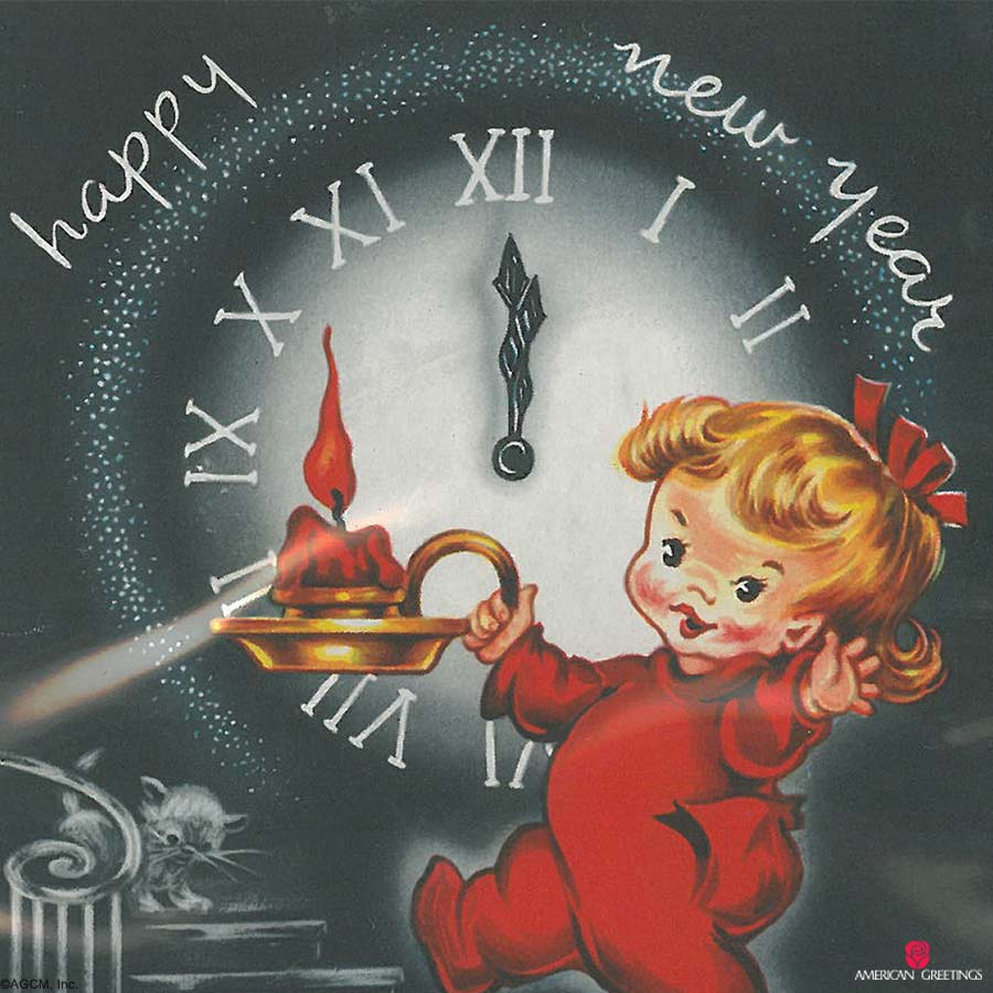 Vintage New Years Cards - American Greetings Blog