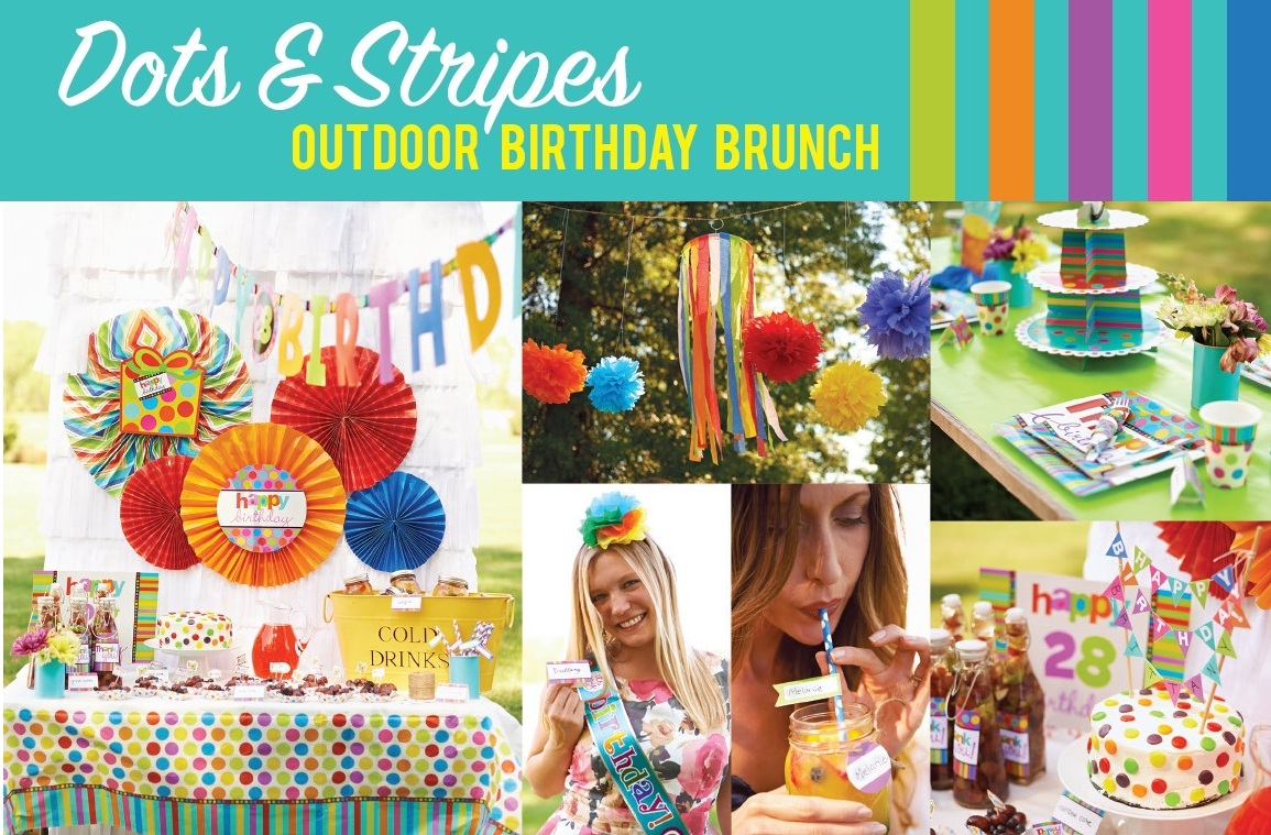 Birthday Party Ideas: Rainbow Birthday Party Brunch