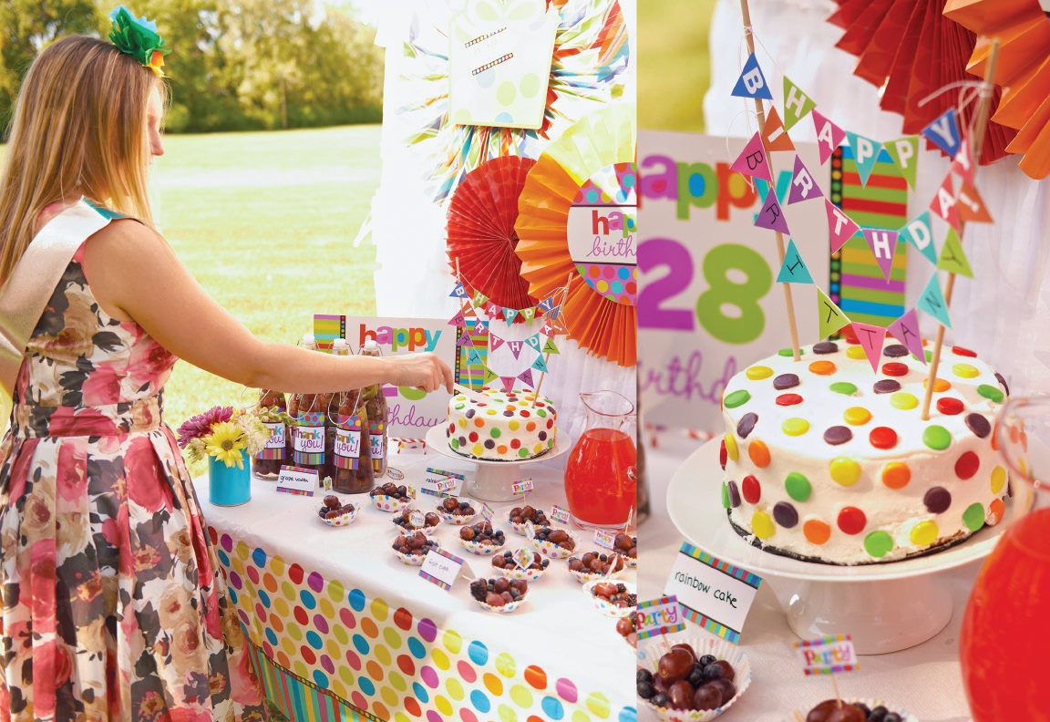 Rainbow Birthday Party Ideas 8