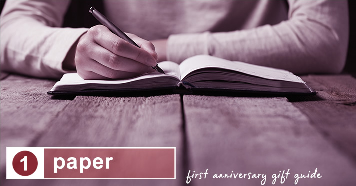 first anniversary gift guide: paper