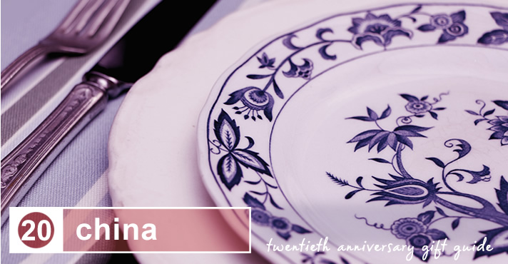 twentieth anniversary gift guide: china