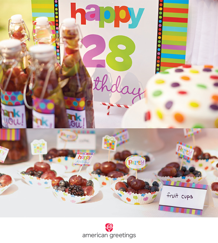 Stripes and dots birthday party