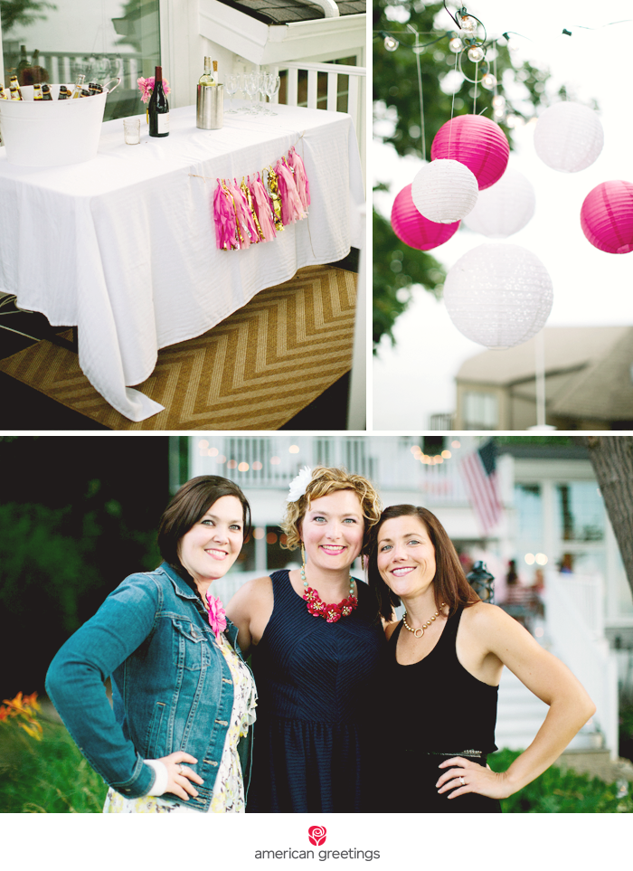 Surprise 40th birthday party pics - bar, lanterns and family!