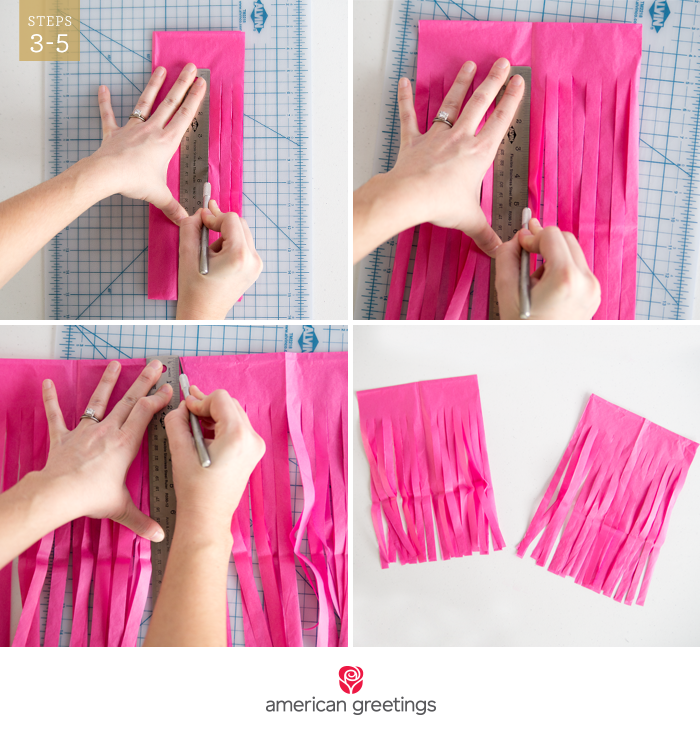 Simple do-it-yourself tissue paper tissue garland