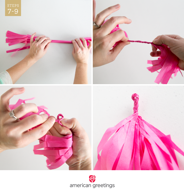 DIY tassel garland - Steps 7-9