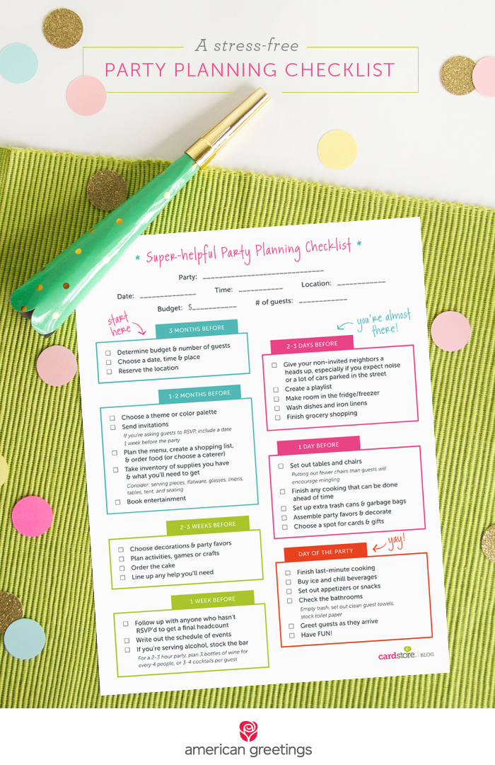 photograph regarding Printable Party Planning Checklist known as A anxiety-no cost get together developing record (and a free of charge printable