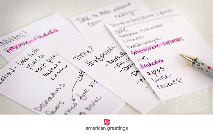 a stress free party planning checklist and a free printable