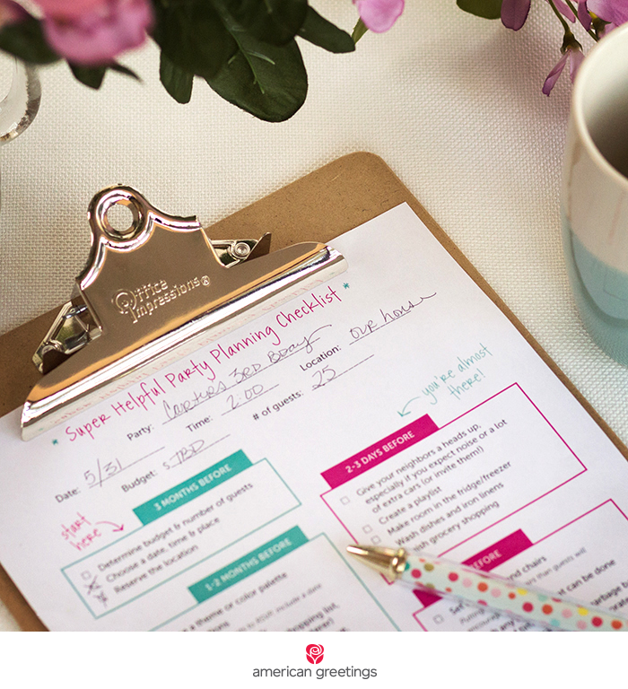 Party planning free printable checklist