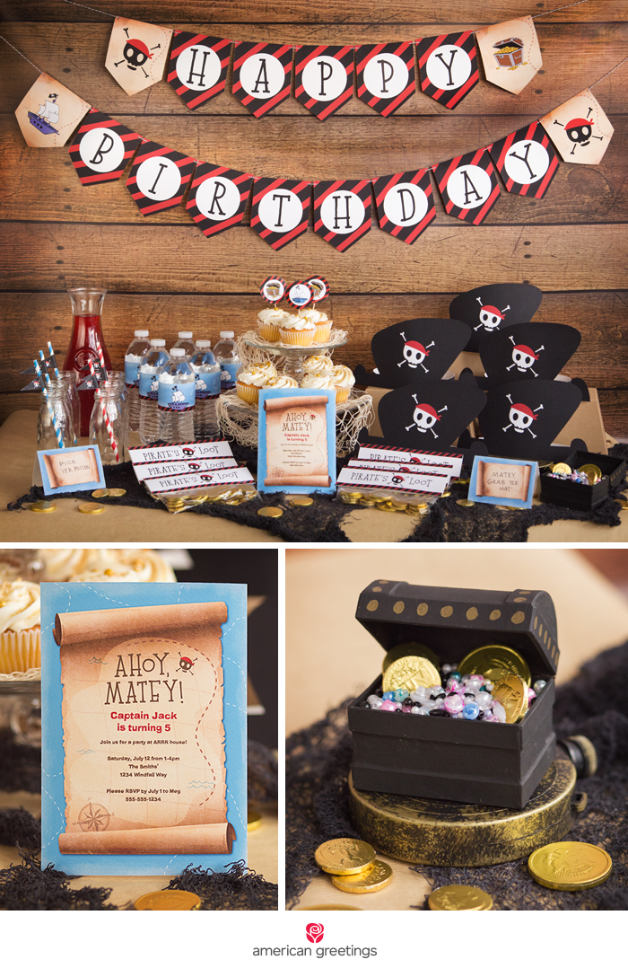 Pirate Party with Free Printables – Kids Pirate Party Invitations