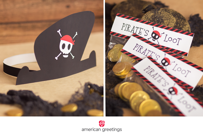 Pirate's loot party favors