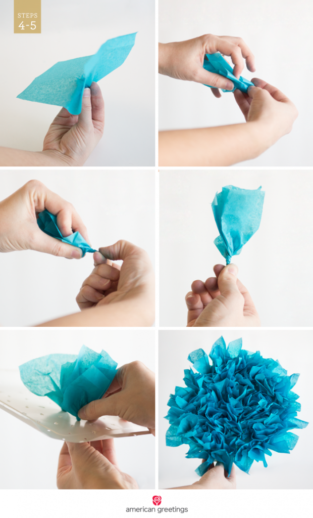 Easy-to-make backdrop using tissue paper