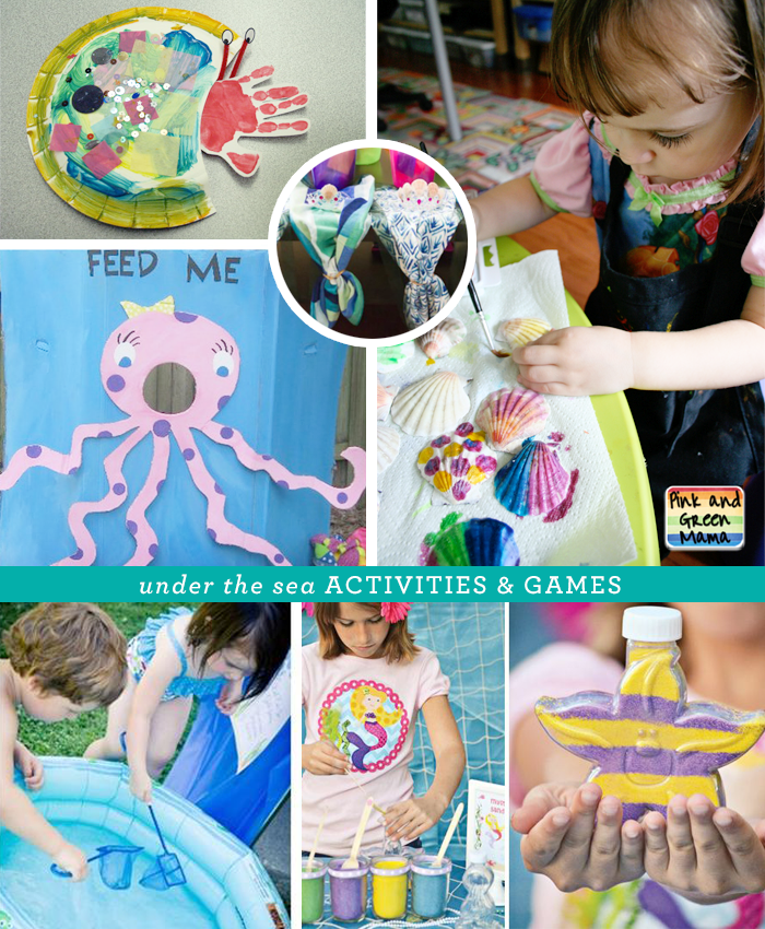 Fun Under the Sea themed activities and games