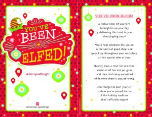 picture relating to You've Been Elfed Free Printable named Year in the direction of Elf! (Free of charge Printable) - American Greetings Blog site