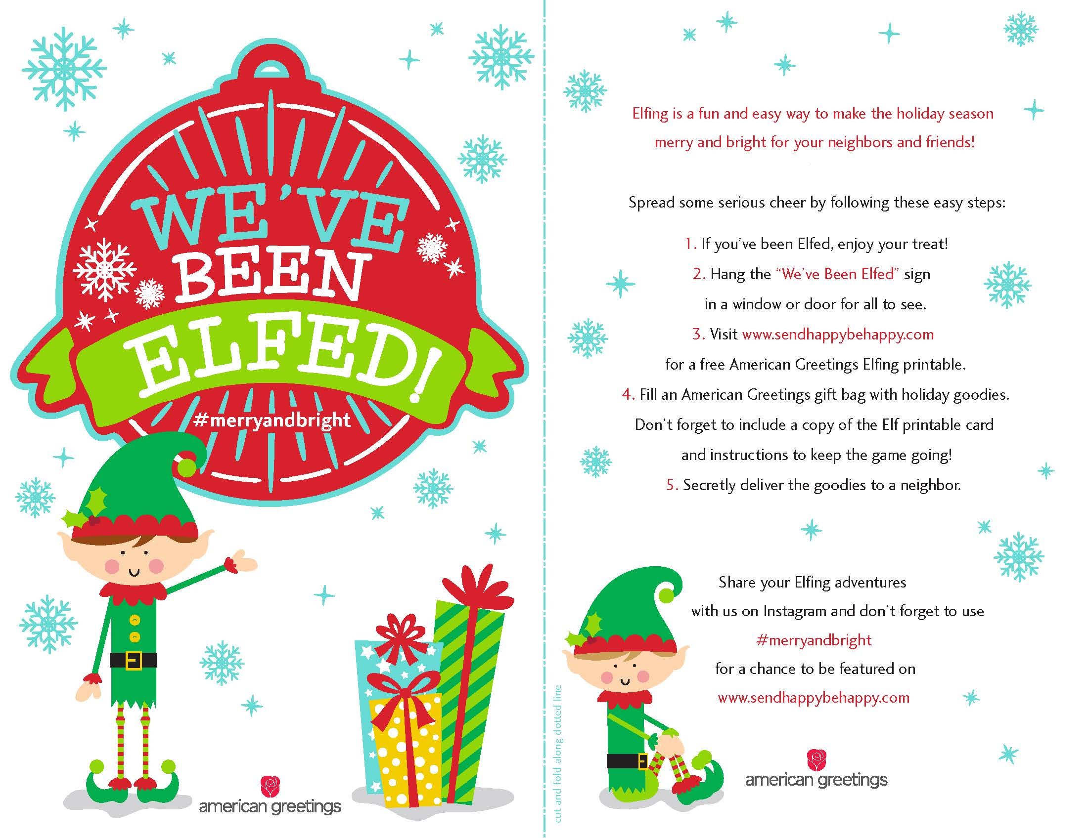 image regarding You've Been Elfed Free Printable known as Season towards Elf! (No cost Printable) - American Greetings Blog site