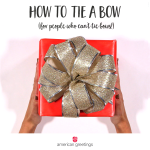 How to Tie a Bow (for people who can't tie bows!)