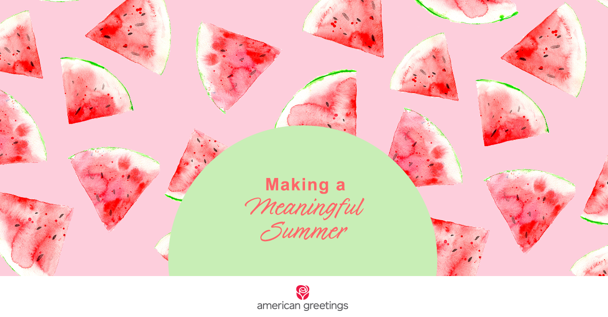 Making a meaningful summer with sliced watermelon background
