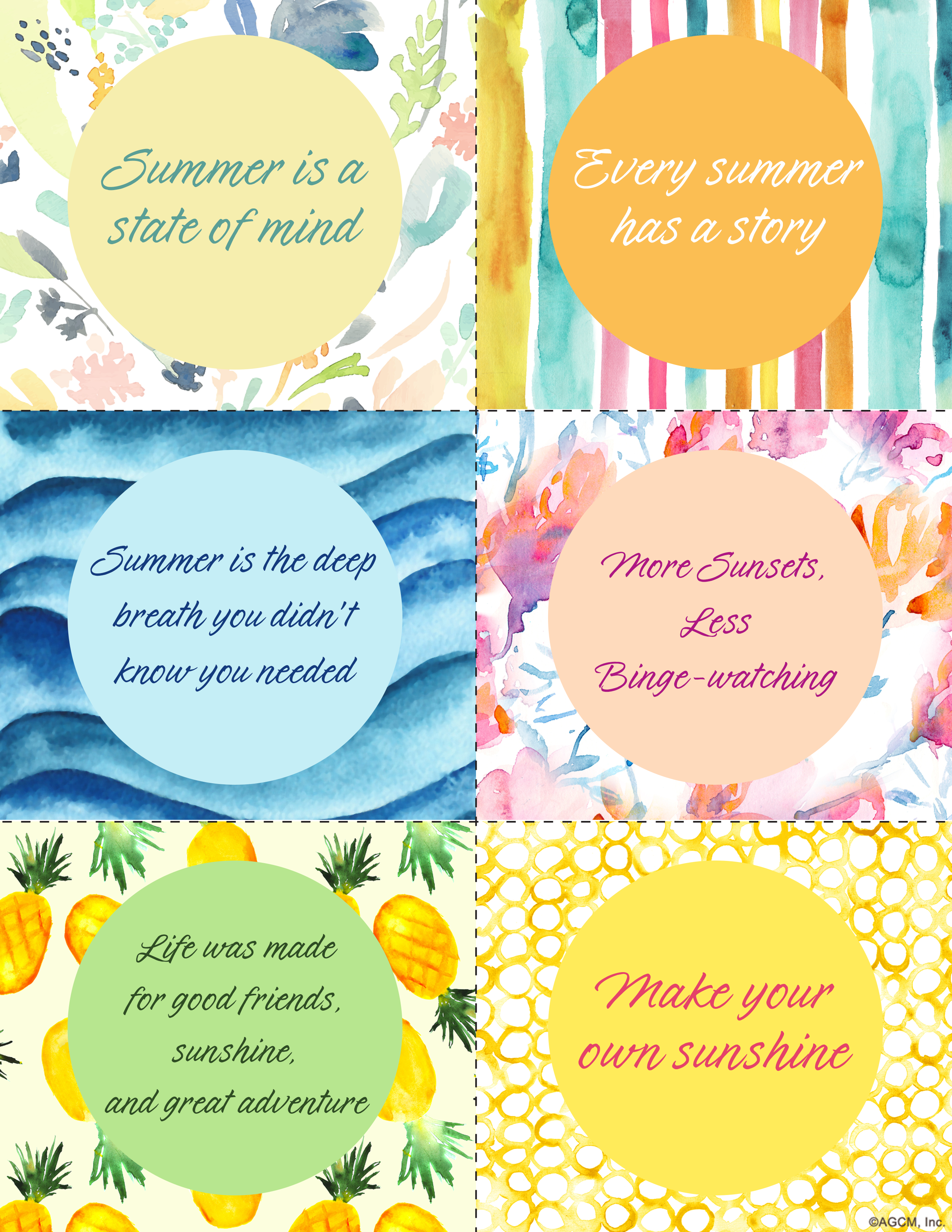 Printable Summer Quotes