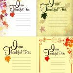 Printable Thanksgiving Place Setting Cards
