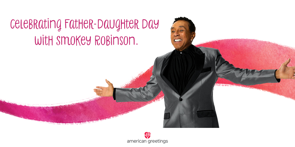 Celebrating Father Daughter day with Smokey Robinson