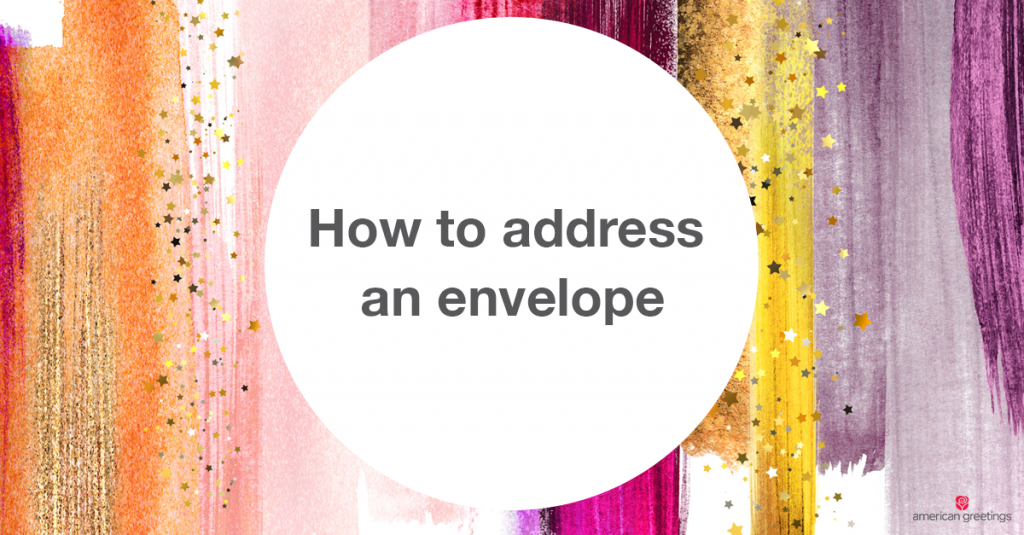 How to address envelopes correctly